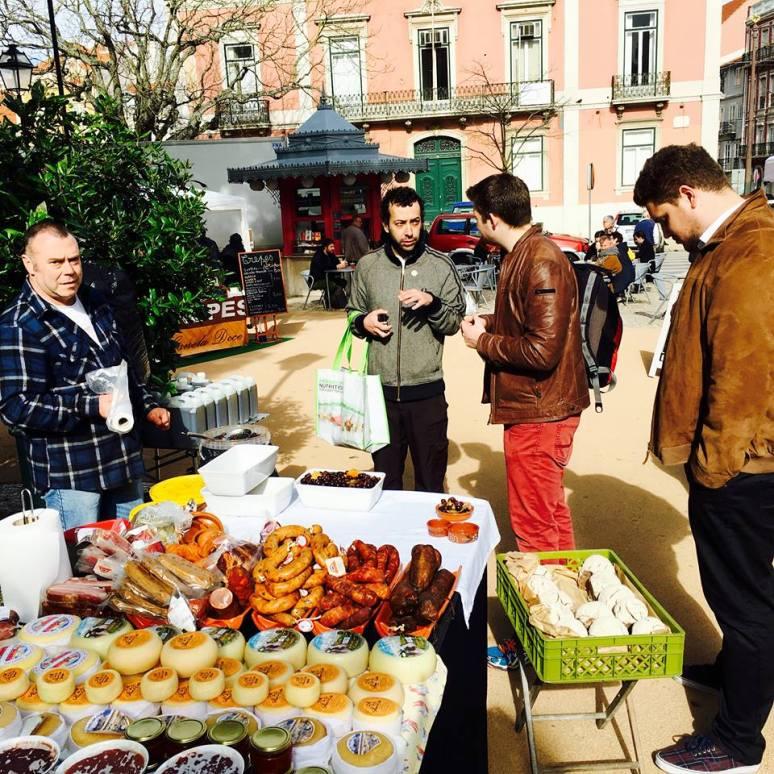 Producers market at Principe Real